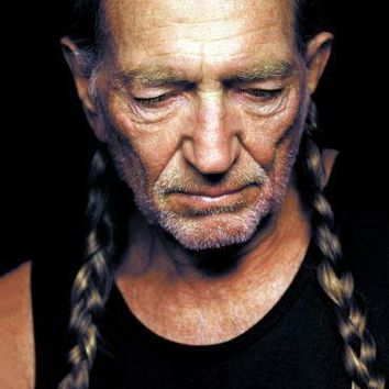 Willie Nelson Metal Print 8in x 12in