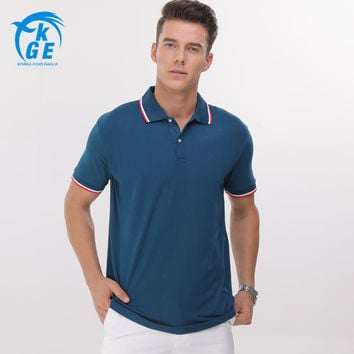 [Can Design LOGO] 2017 Men Modal Solid Polo Ralph Summer Short Sleeve Turn Down Collar Men Jerseys Buttons Plus Size Polos 5XL