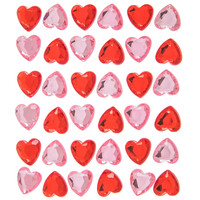 Red & Pink Rhinestone Heart 3D Stickers | Hobby Lobby | 709055
