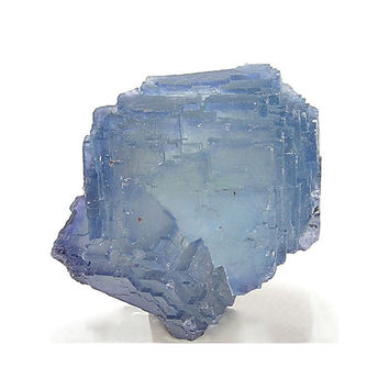 Blue Fluorite Cube Crystal, Stepped Faces, Sharp Facets,  Mineral Specimen mined at Bingham, New Mexico, Collector's Select