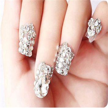 DCK9M2 All Sizes Nail Art Crystal Clear ss3 ss4 ss5 ss6 - ss40 Shiny Strass Flatback Non Hot Fix Rhinestones For Phone Case Decoration