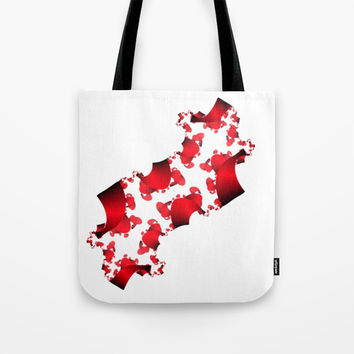 Red and Black Gradient Confetti Tote Bag by 11penguingirl