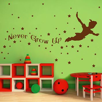ik2805 Wall Decal Sticker Peter Pan fairy tale of Big Ben room children's bedroom