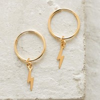 Charm Hoops - Lightning Bolt