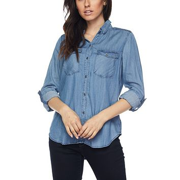 Cindy Chambray Top