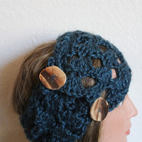 Crochet Headband Pattern - Woman Headband Headwrap Pattern - DIY Instant Download