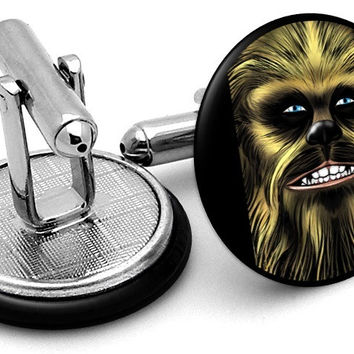 Chewie Chewbacca Star Wars Cufflinks