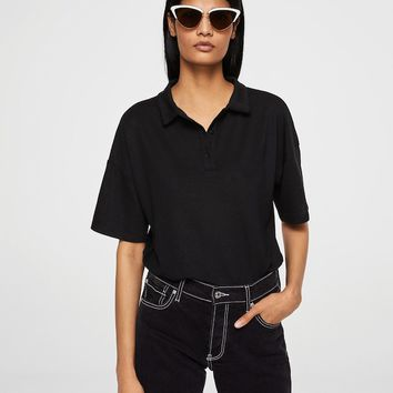 Button-down collar polo shirt - Women | MANGO USA