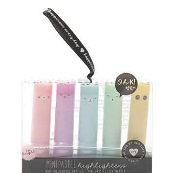 Mini Pastel Highlighter Set