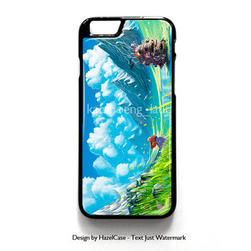 Moving Castle for iPhone 4 4S 5 5S 5C 6 6 Plus , iPod Touch 4 5  , Samsung Galaxy S3 S4 S5 Note 3 Note 4 , and HTC One X M7 M8 Case Cover