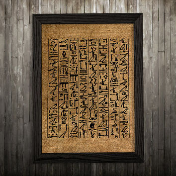 Burlap print Native art Egyptian poster Tribal print BLP668
