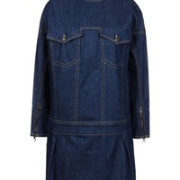 See By ChloÉ Raw Denim Dress - Long Sleeve Dress - ShopBAZAAR
