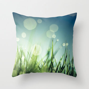 Grass  Throw Pillow by Christian Solf