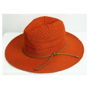 Panama Styled Hat w/Brown String