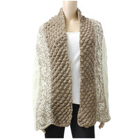 Multi Pattern Wool Blend Winter Knit Scarf