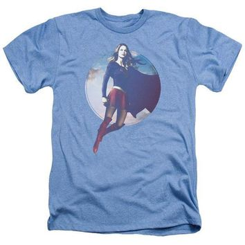 CREYM83 Supergirl - Cloudy Circle Adult Heather
