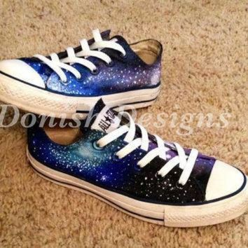 DCCK1IN custom painted galaxy converse shoes