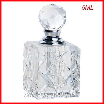 LMFLD1 NEW 5ml cosmetics perfume bottle crystal glass essential oil makeup containers small Parfum atomizer perfumeros containers