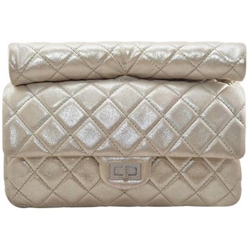 Chanel Reissue Metallic Quilted Clutch 2012