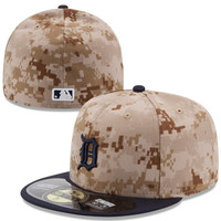 Detroit Tigers New Era Memorial Day 59FIFTY Fitted Hat – Camo