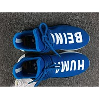 Adidas Boost Nmd Human Race BB0618 Blue Women Men Fashion Trending Running Sports Shoes Sneakers