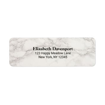 Faux Marble Alabaster Taupe Tan Abstract Label