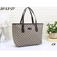 Coach Fashion Print Women Leather Satchel Bag Shoulder Bag Handbag Coffee G-MYJSY-BB