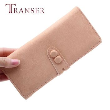 TRANSER Fashion Women Cute Candy Soft Leather Change Purse Long Wallet High Quality Long Card Coin Famous Design Girl Aug17