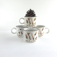 Vintage Midwinter Stonehenge Wild Oats Flat Cups Set of 4