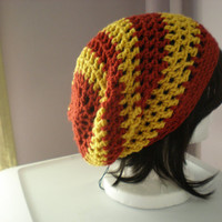 Copley hat in Gryffindor red and gold -- slouchy