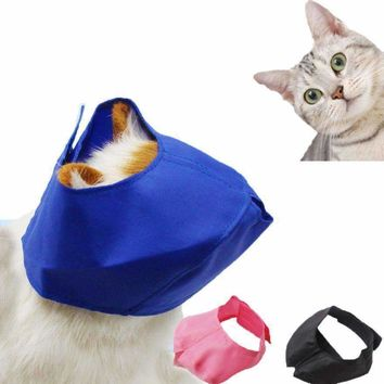 Pet Cat Mask Cat Bath Beauty Eye Mask Bit Mask Protective Cover For Pet Cats deop shipping #XG