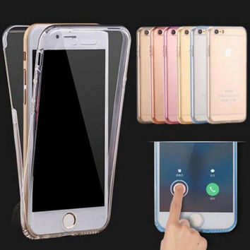 Fashion Ultrathin Clear Transparent TPU Silicone Flexible Soft Cover Case  For Apple iPhone 7 7 Plus f6e188094e60