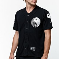 Mishka Balanced Keep Watch Baseball Jersey - Mens Tee - Black