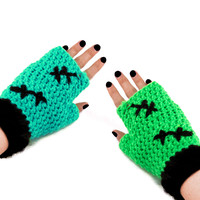 FrankenKitty Fingerless Gloves