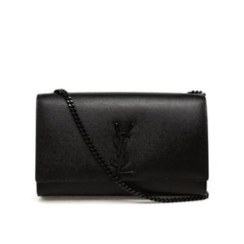 SAINT LAURENT | Leather Monogram Shoulder Bag | brownsfashion.com | The Finest Edit of Luxury Fashion | Clothes, Shoes, Bags and Accessories for Men & Women
