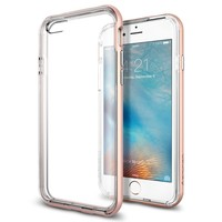 Spigen Neo Hybrid EX iPhone 6S Case with Flexible Inner Bumper and Reinforced Hard Frame for iPhone 6S / iPhone 6 - Rose Gold