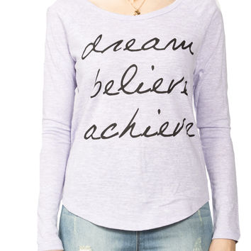 Girls 'Dream' Raglan Graphic Tee