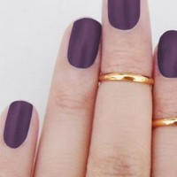 Above Knuckle Ring Sterling Silver 18K Gold Plated Stackable