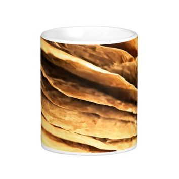 abstract textured paper design coffee mug