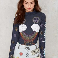 Emma Mulholland Cherry Bomb Embroidered Bodysuit