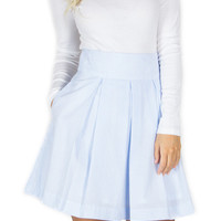 Lauren James - Pleated Seersucker Skirt