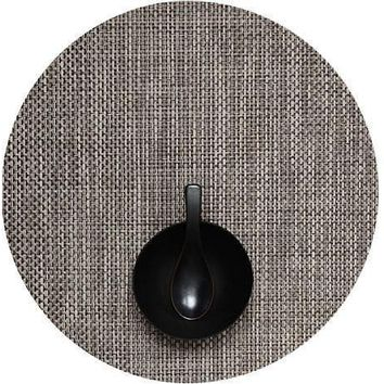 CHILEWICH Basketweave Round  Placemat S/4 | Oyster