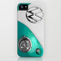 VW Split Screen in Teal iPhone Case by Alice Gosling | Society6
