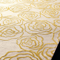 """Roses"" Rug - Horchow"