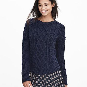 Banana Republic Chunky Cable Knit Sweater Pullover