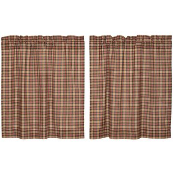 Crosswoods Tier Curtains 36""