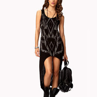 Geo High-Low Dress