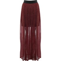 Rare London Lurex Maxi Skirt