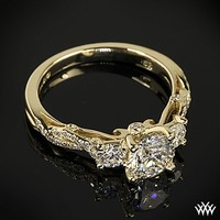Verragio Twisted Shank 3 Stone Engagement Ring | 14903