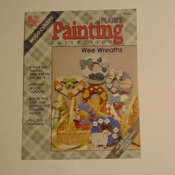 Plaid's Painting Collection 8256 Wee Wreath Folk Art Wood Cutout Tole Painting Patterns